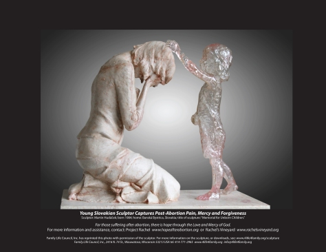 "Martin Hudáček's sculpture entitled ""Memorial for Unborn Children"
